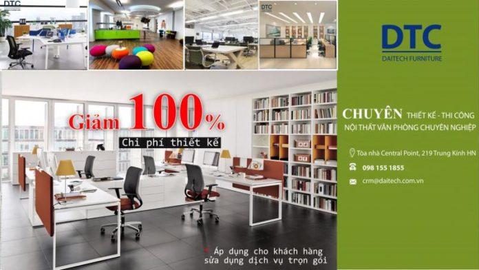 Dịch vụ thiết kế thi công nội thất văn phòng chuyên nghiệp